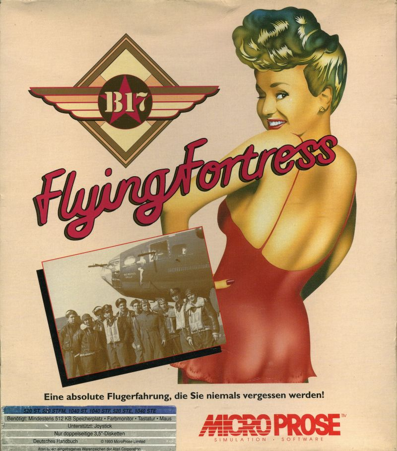 B-17 Flying Fortress Atari ST Front Cover