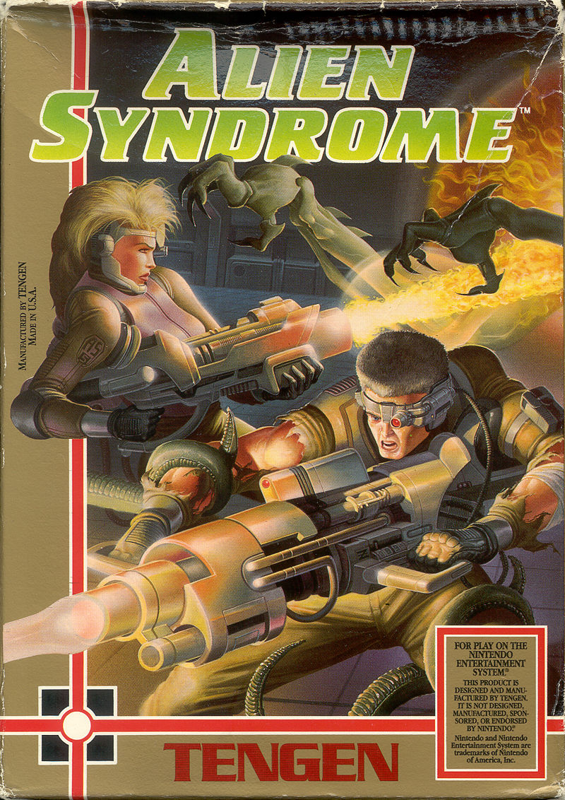 Alien Syndrome NES Front Cover