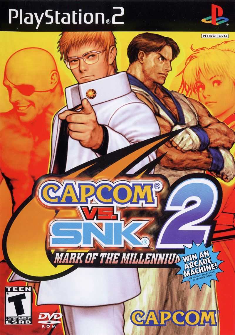 Capcom vs. SNK 2: Mark of the Millennium PlayStation 2 Front Cover