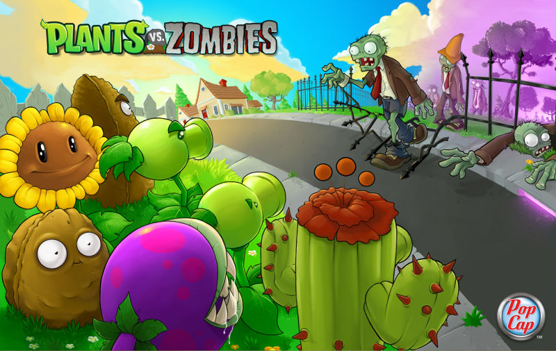 Plants vs. Zombies Macintosh Front Cover
