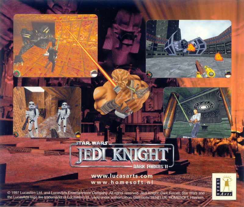 Star Wars: Jedi Knight - Dark Forces II Windows Other Jewel Case - Back