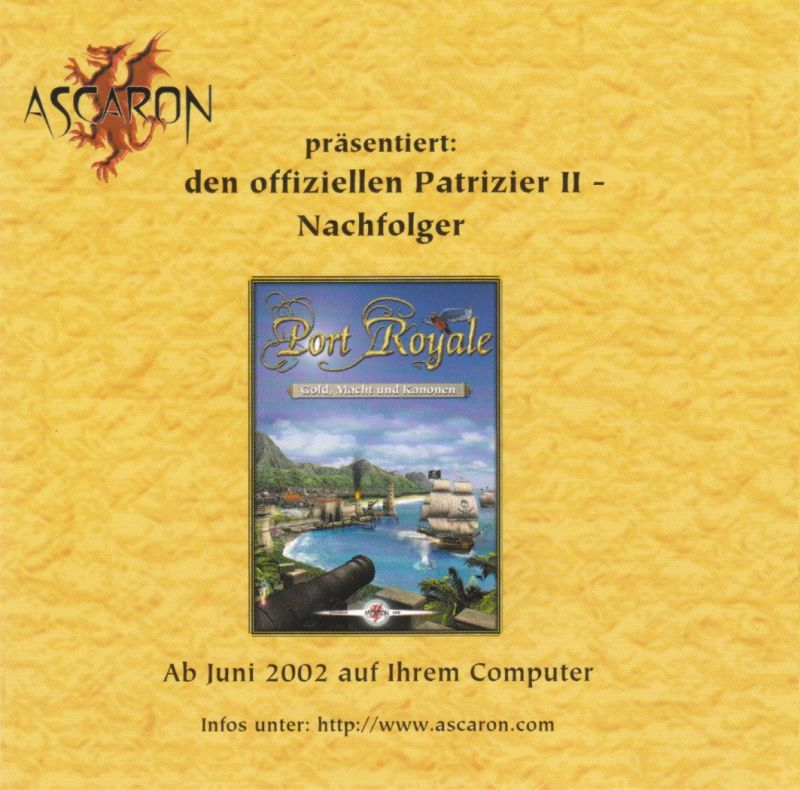 Patrizier II (Gold Edition) Windows Other Jewel Case - Front Inlay