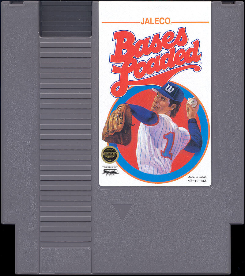 Bases Loaded NES Media Cartridge