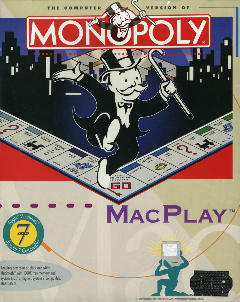 Monopoly Deluxe Macintosh Front Cover