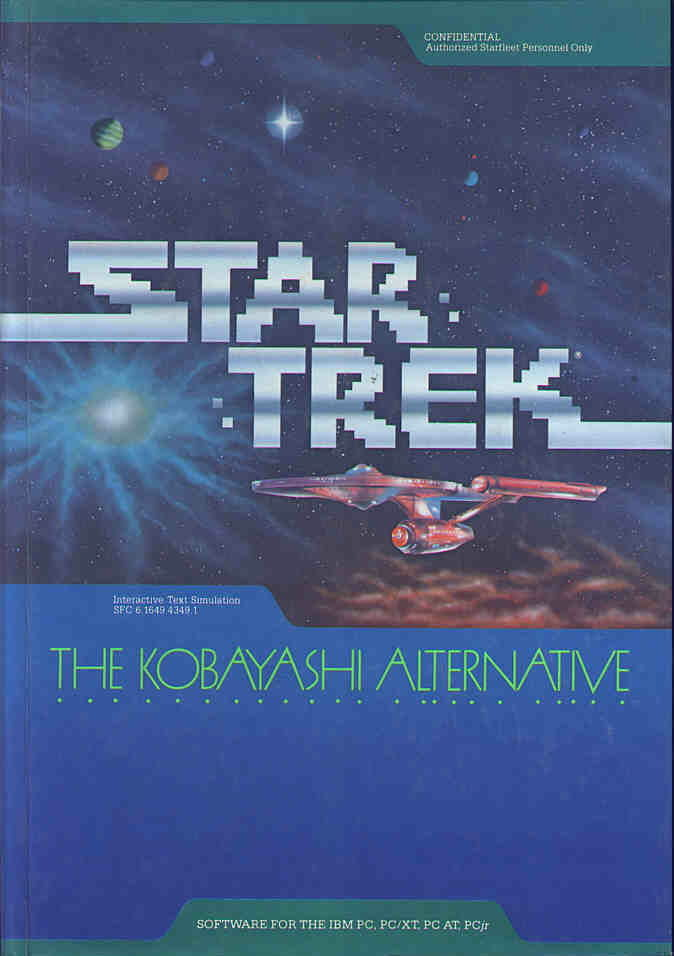 Star Trek: The Kobayashi Alternative DOS Front Cover