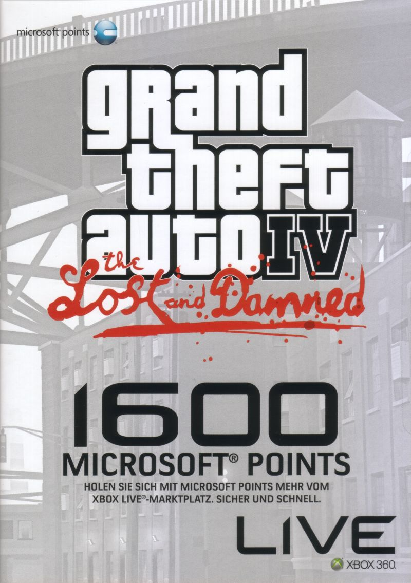 Grand Theft Auto IV: The Lost and Damned Xbox 360 Front Cover
