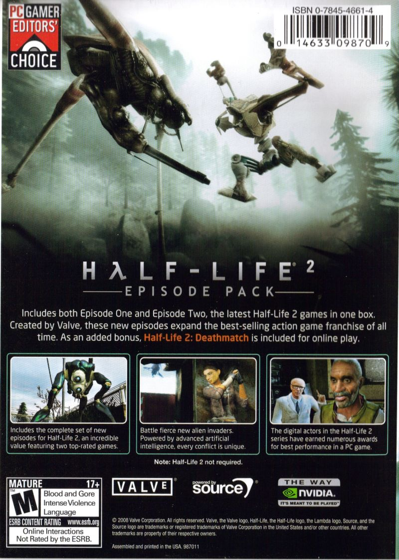 Half Life 2 Episode Pack 2008 Windows Box Cover Art Mobygames