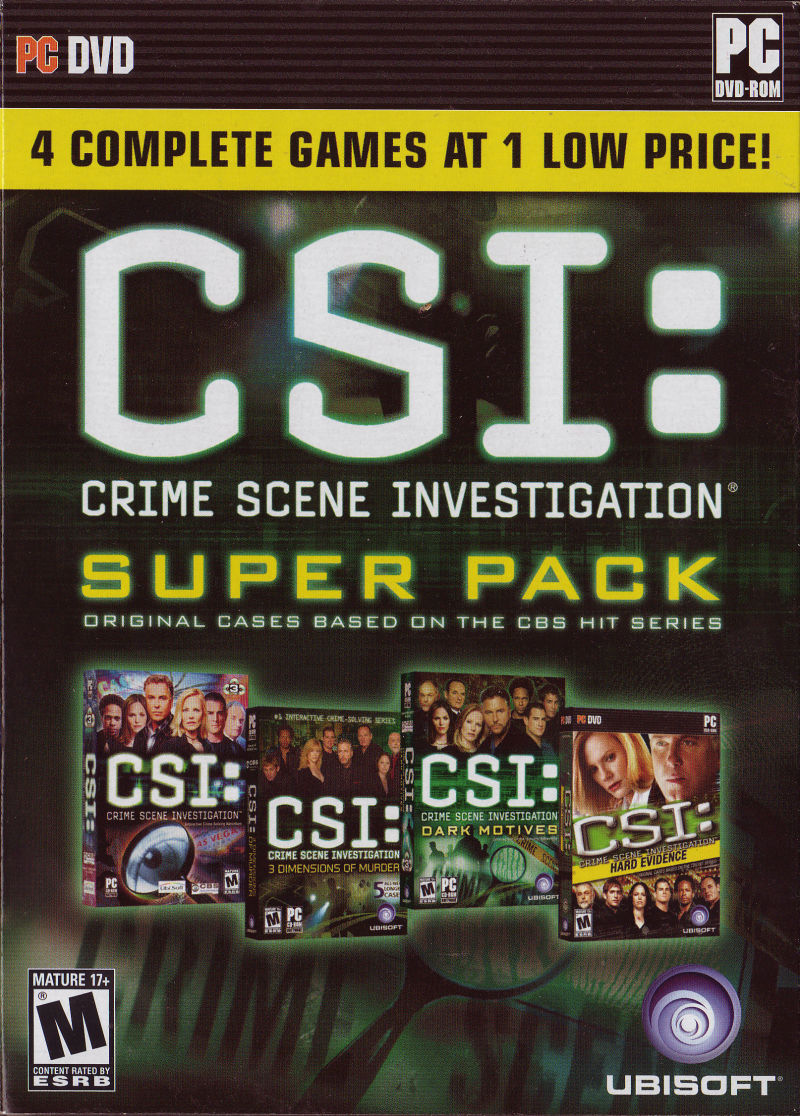 CSI: Crime Scene Investigation - Super Pack Windows Front Cover