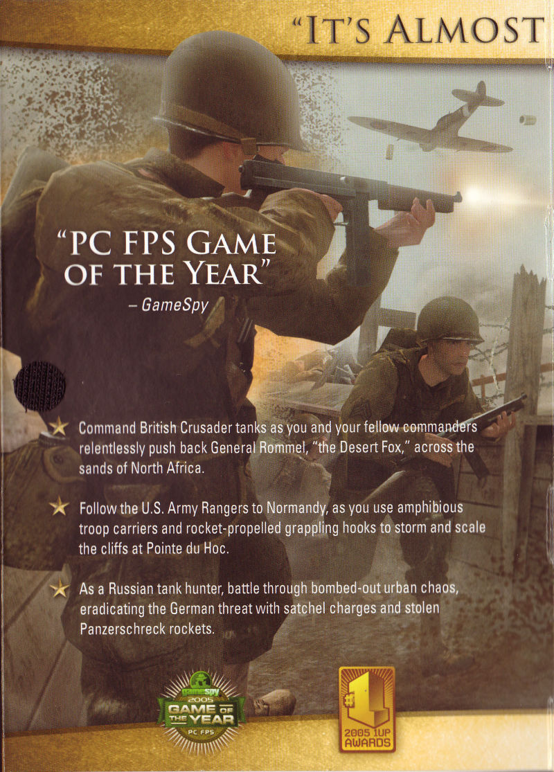Call of Duty 2 (Game of the Year Edition) Windows Inside Cover Left