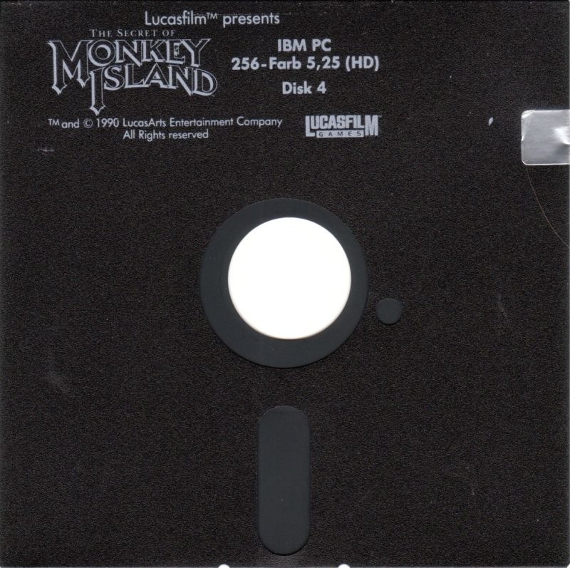 The Secret of Monkey Island DOS Media Disk 4/4
