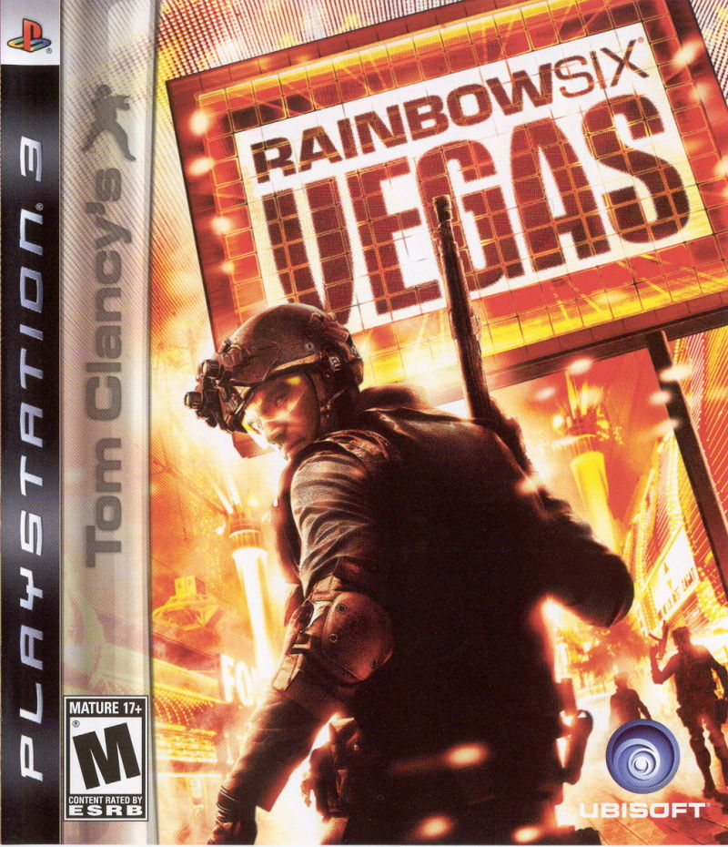 Tom Clancy's Rainbow Six: Vegas PlayStation 3 Front Cover