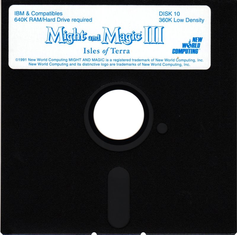 Might and Magic III: Isles of Terra DOS Media Disk 10/10