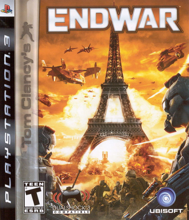 Tom Clancy's EndWar PlayStation 3 Front Cover