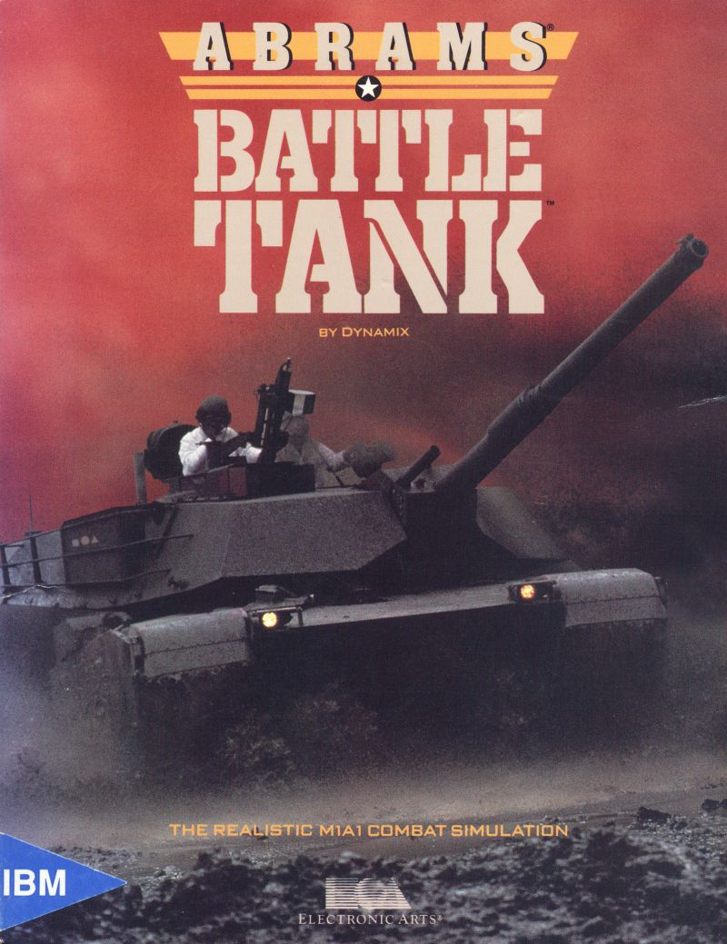 Abrams Battle Tank DOS Front Cover
