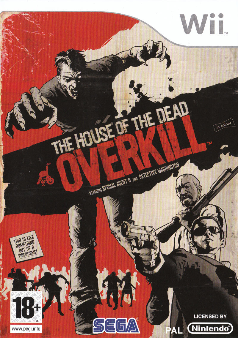 The House of the Dead: Overkill Wii Front Cover
