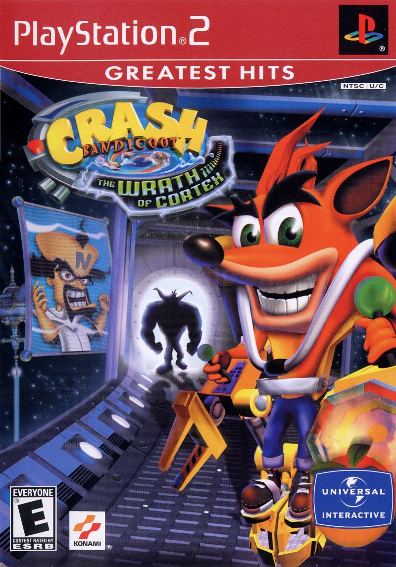 Crash Bandicoot: The Wrath of Cortex PlayStation 2 Front Cover