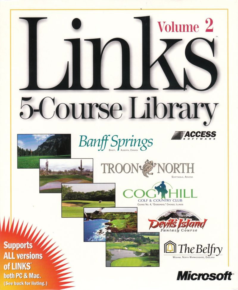 Links: 5-Course Library - Volume 2 DOS Front Cover