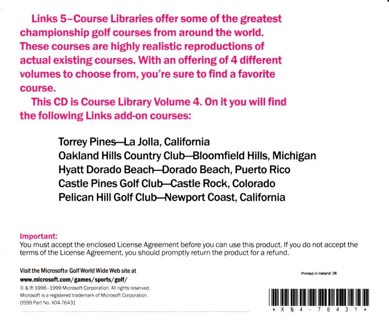 Links: 5-Course Library - Volume 4 DOS Other Jewel Case - Back