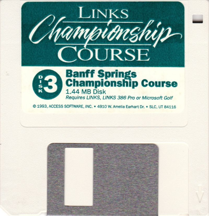 Links: Championship Course - Banff Springs DOS Media Disk 3 of 3