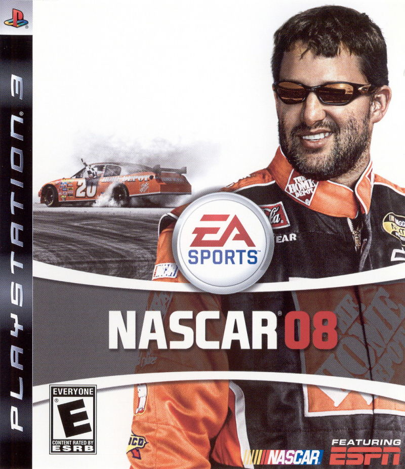 NASCAR 08 PlayStation 3 Front Cover