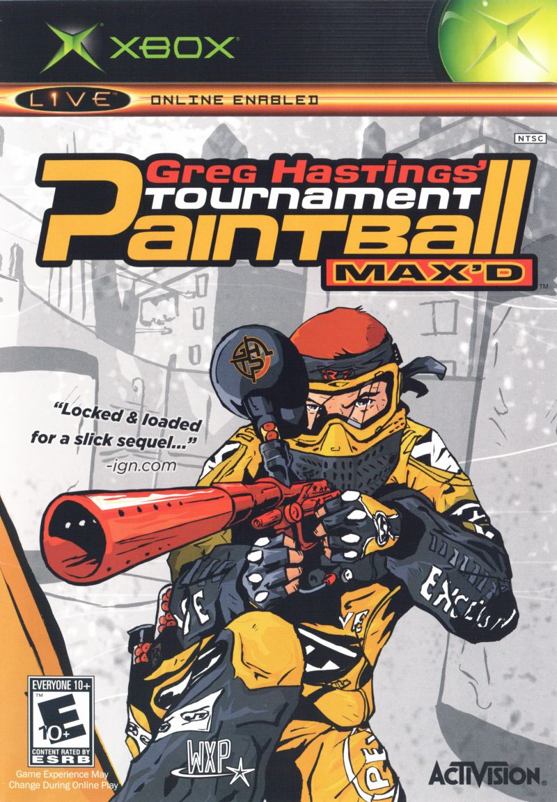 Greg Hastings' Tournament Paintball Max'd Xbox Front Cover