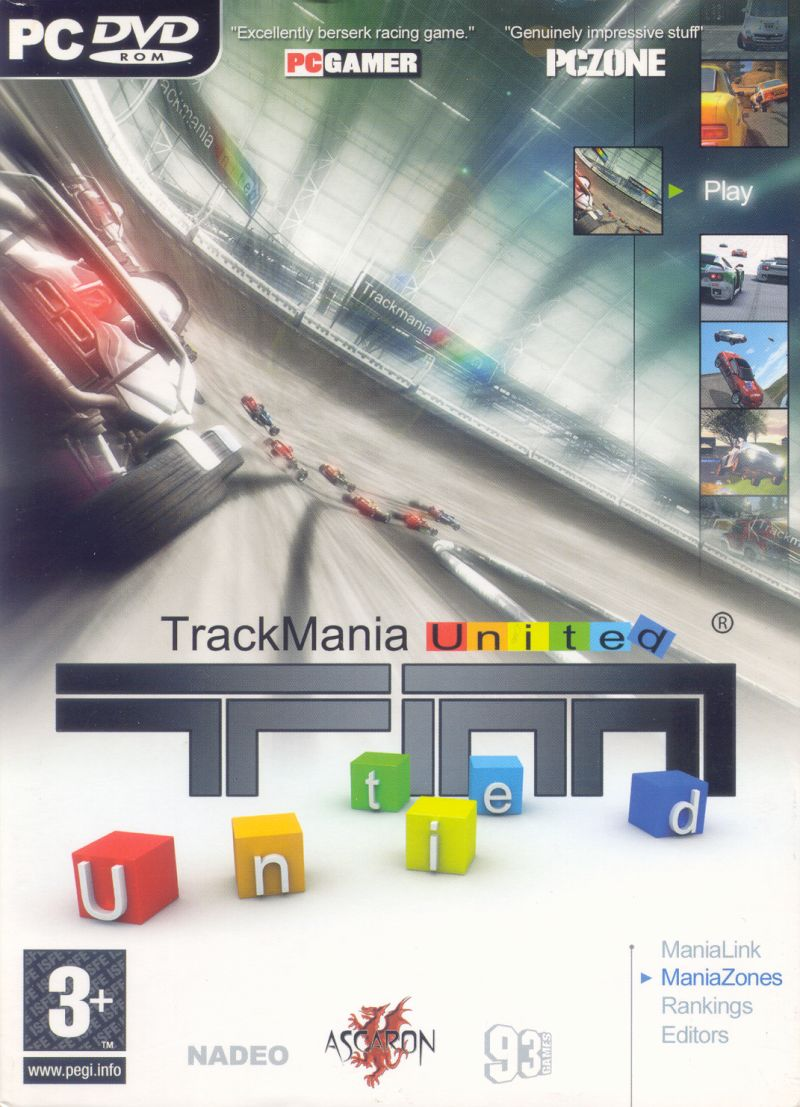TrackMania United Windows Front Cover