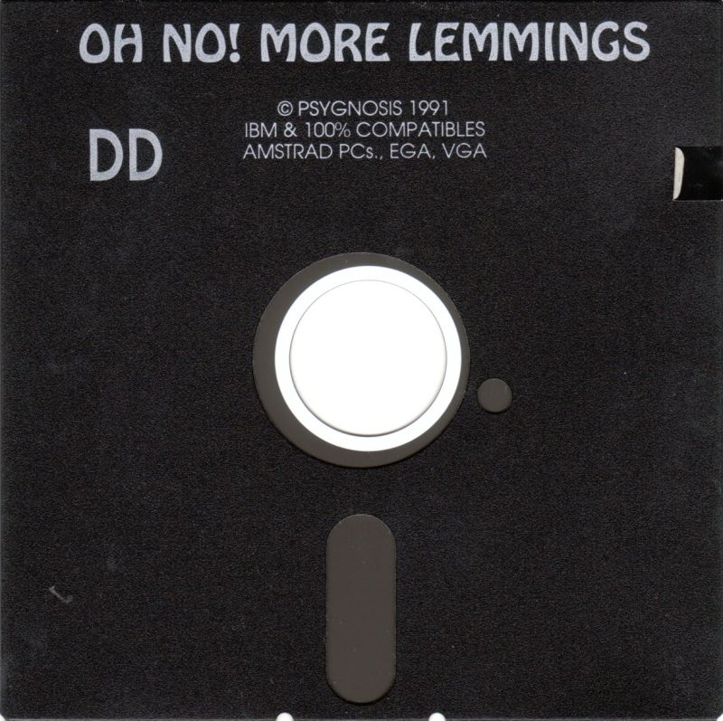 "Oh No! More Lemmings DOS Media 5.25"" Disk - Amstrad/EGA/VGA"