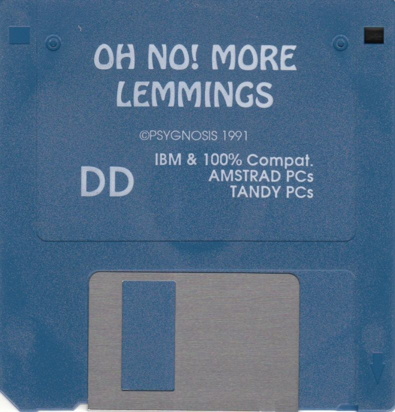 "Oh No! More Lemmings DOS Media 3.5"" Disk"