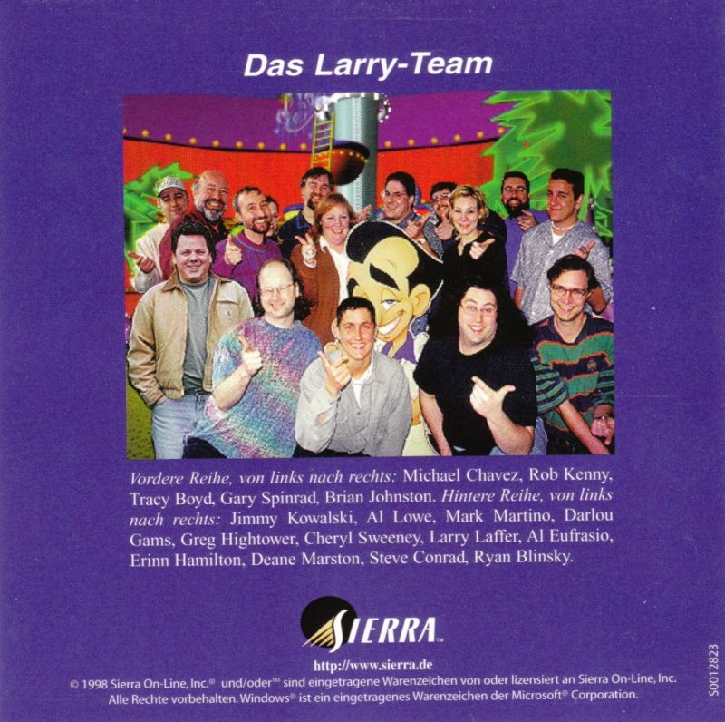 Leisure Suit Larry's Casino Windows Other Jewel Case - Front Inlay