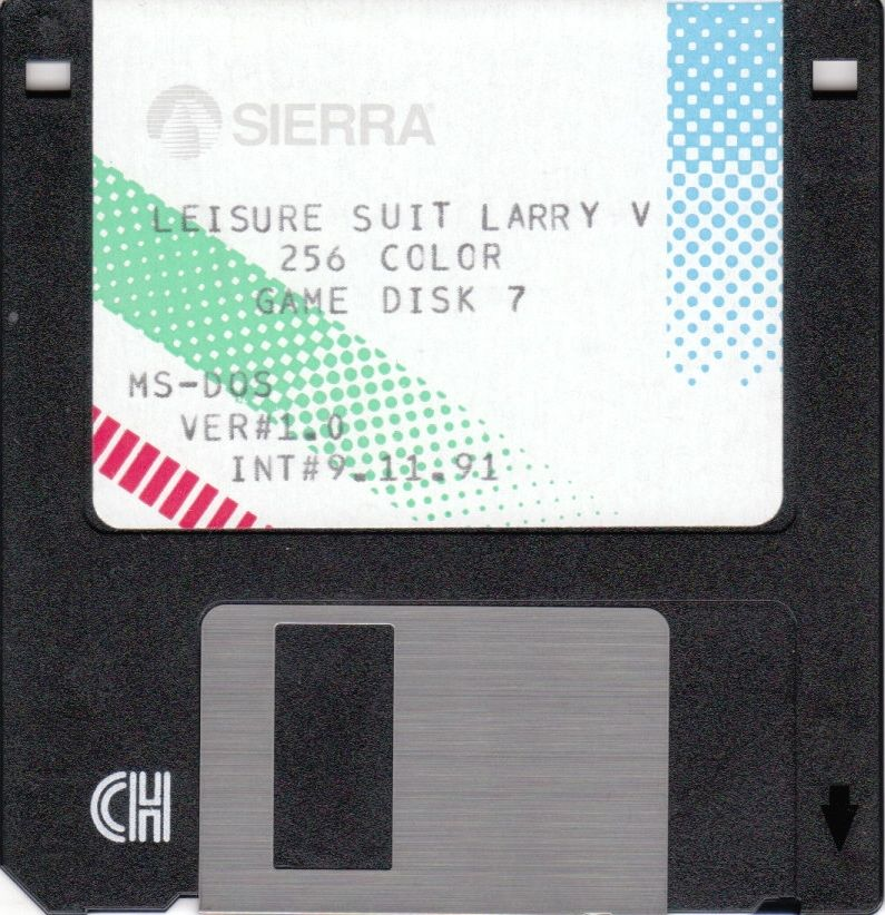 Leisure Suit Larry 5: Passionate Patti Does a Little Undercover Work DOS Media Game Disk 7/7