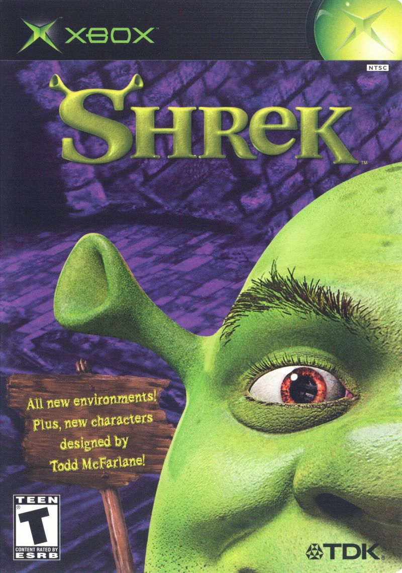 Shrek Xbox Front Cover
