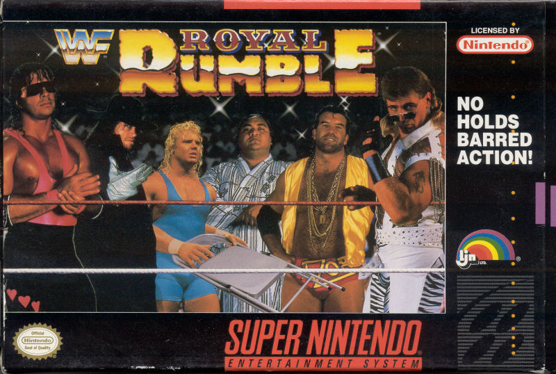 WWF Royal Rumble SNES Front Cover