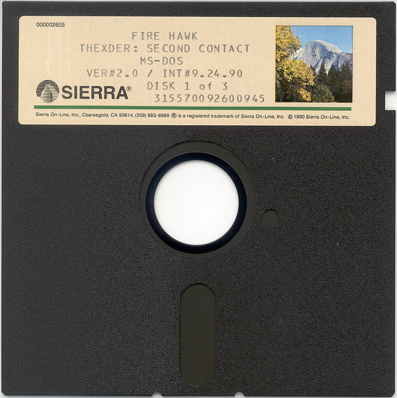 "Fire Hawk: Thexder - The Second Contact DOS Media 5.25"" Disk 1"