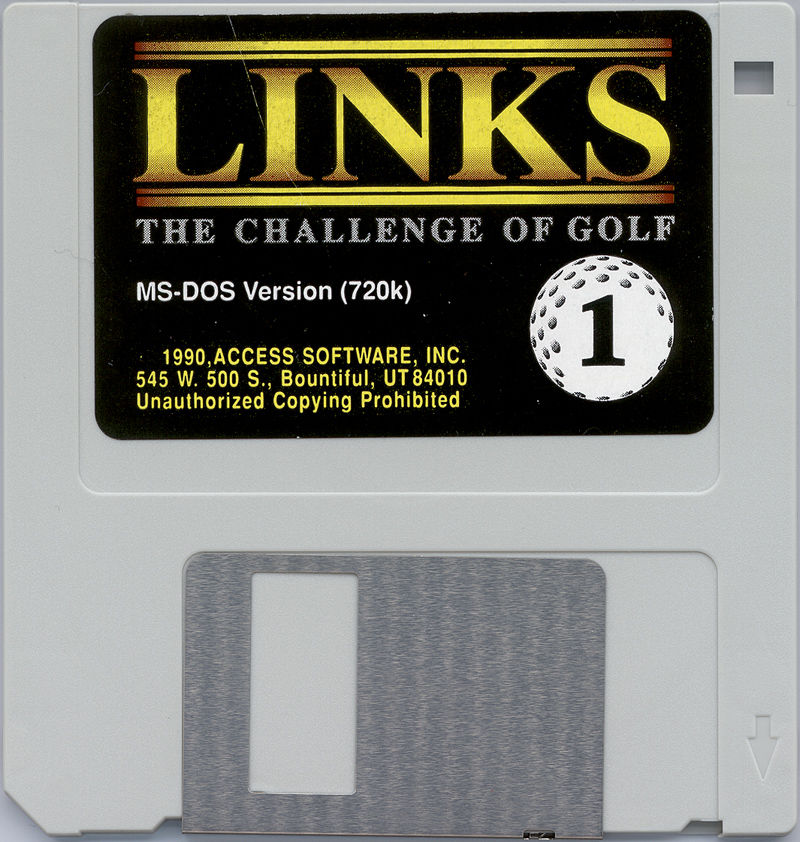 Links: The Challenge of Golf DOS Media