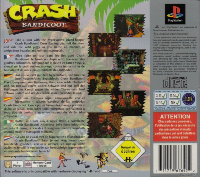 Crash Bandicoot (2011) Android box cover art - MobyGames