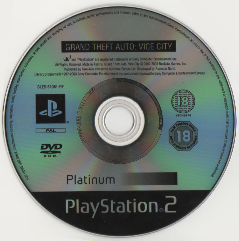 Grand Theft Auto: Vice City PlayStation 2 Media
