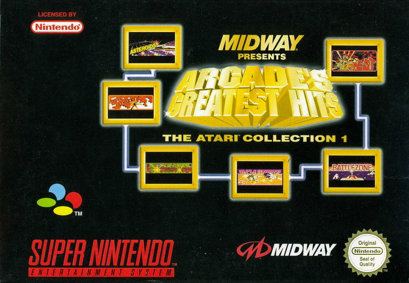 Williams Arcade Classics SNES Front Cover