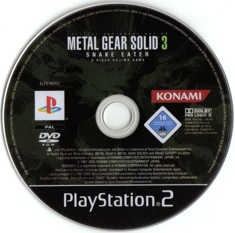 metal gear solid 3 snake eater 2004 playstation 2 box
