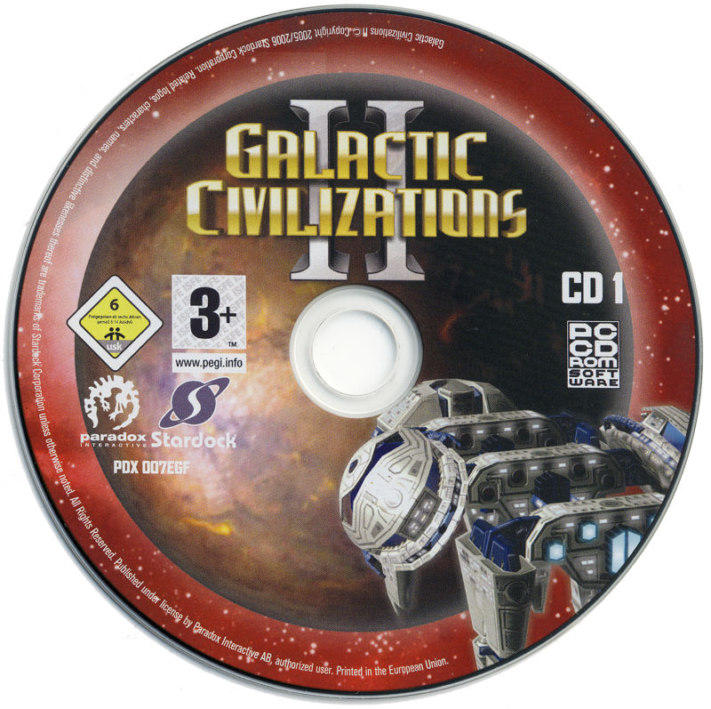 Galactic Civilizations II: Dread Lords Windows Media Disc 1