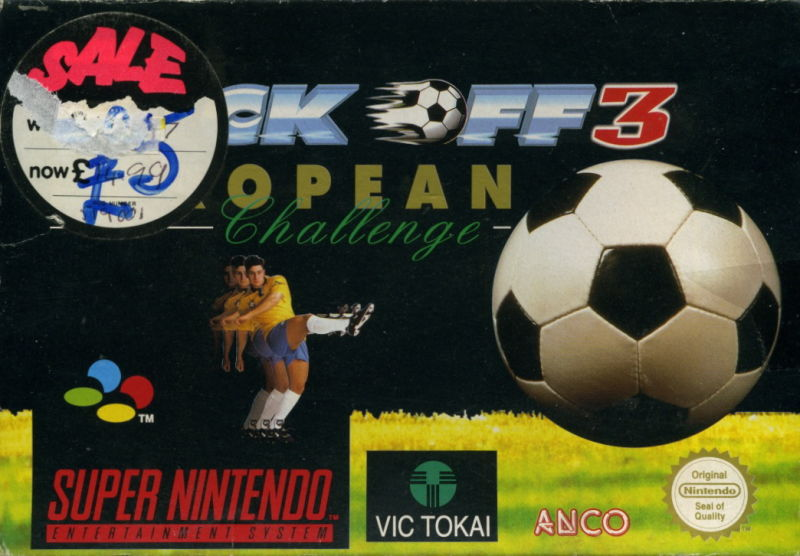 Kick Off 3: European Challenge SNES Front Cover