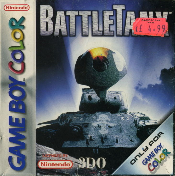 BattleTanx Game Boy Color Front Cover