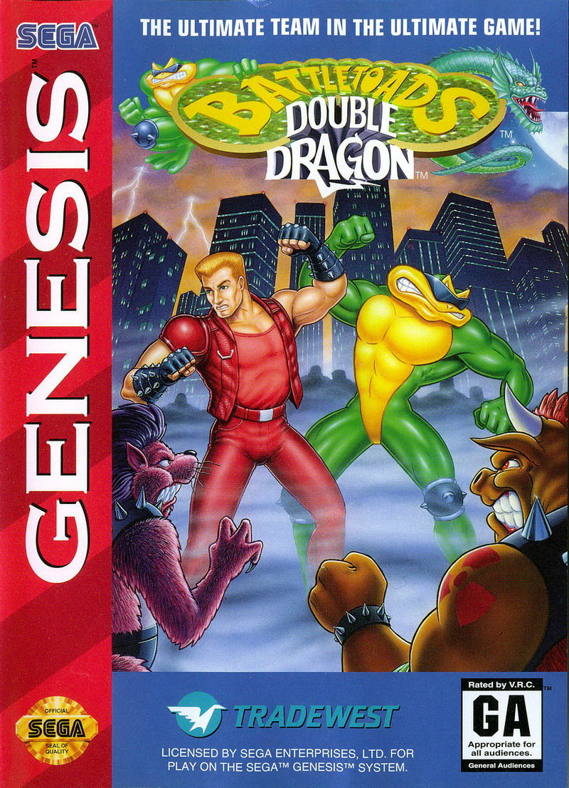Battletoads Double Dragon 1994 Genesis Box Cover Art Mobygames