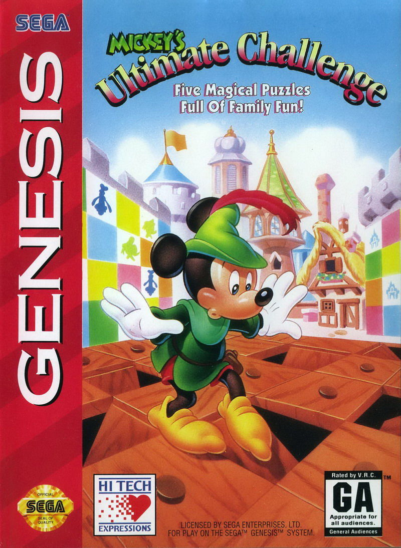 Mickey's Ultimate Challenge Genesis Front Cover