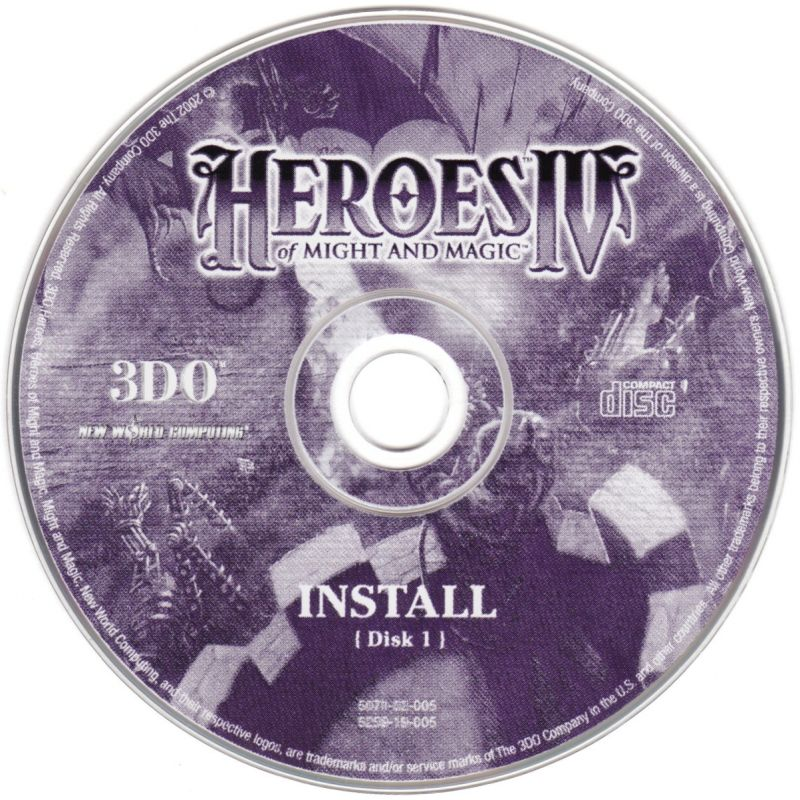 Heroes of Might and Magic IV Windows Media Disc 1 - Install