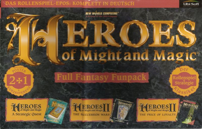 Heroes of Might and Magic Compendium DOS Front Cover