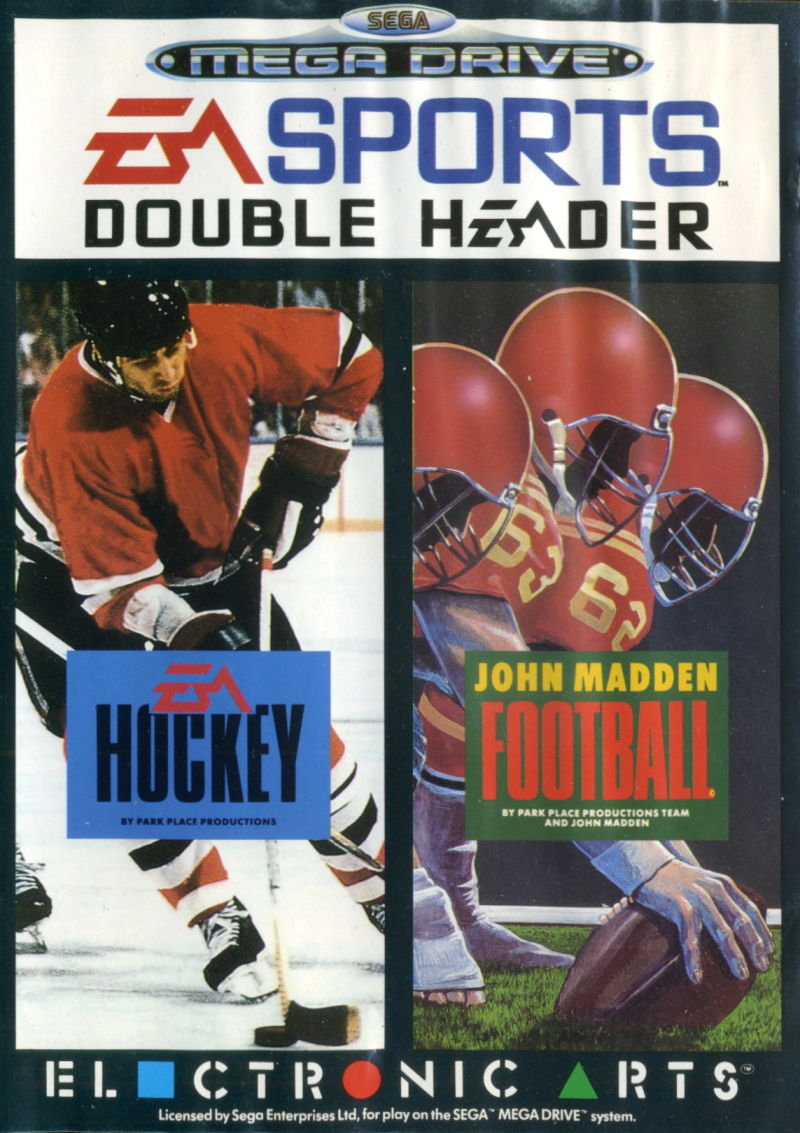 EA Sports Double Header Genesis Front Cover