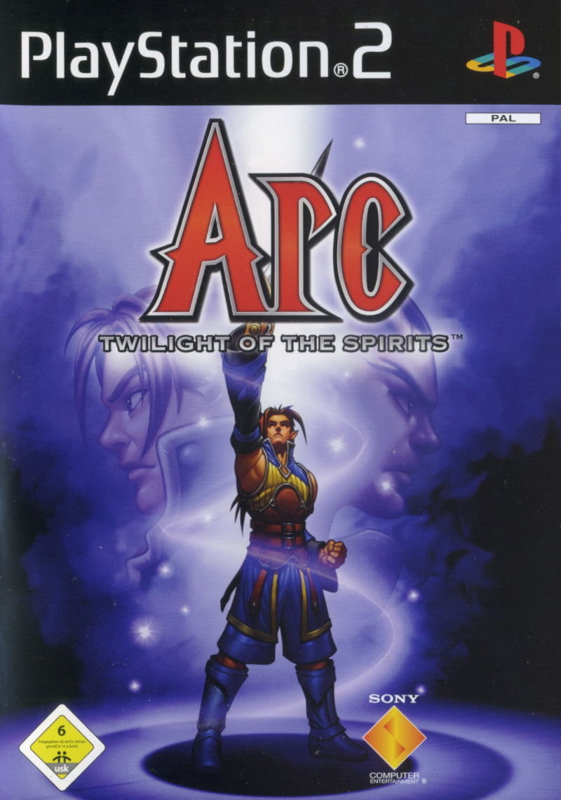 Arc the Lad: Twilight of the Spirits PlayStation 2 Front Cover