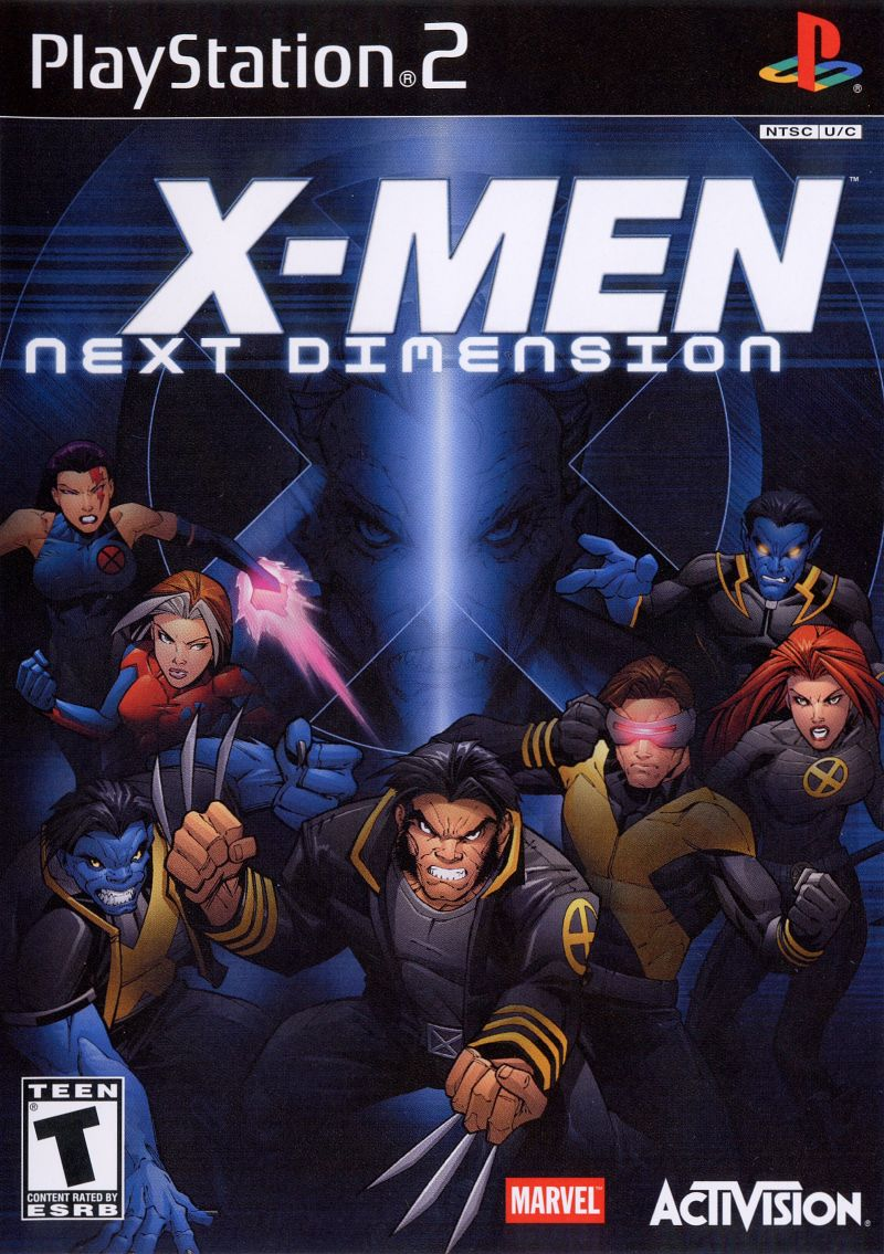 X-Men: Next Dimension PlayStation 2 Front Cover