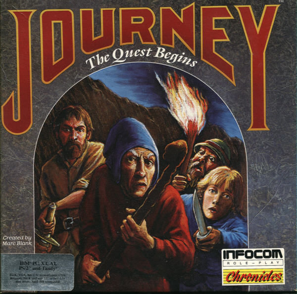 Journey: The Quest Begins DOS Front Cover