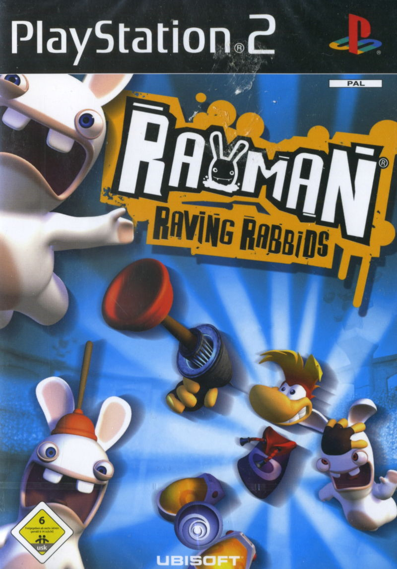 Rayman Raving Rabbids PlayStation 2 Front Cover